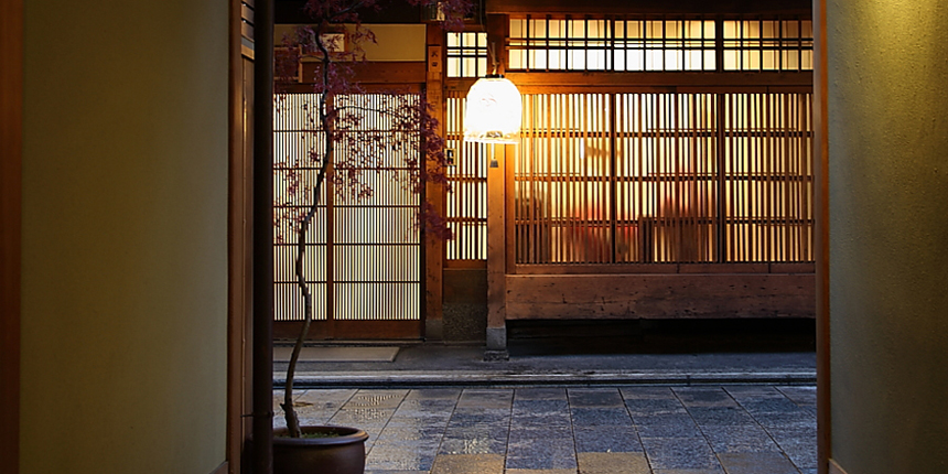 The aroma of French wine permeating the geisha quarters in Kyoto…